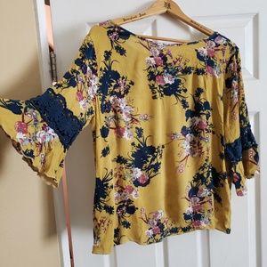Zenobia 3/4 inch sleeve blouse